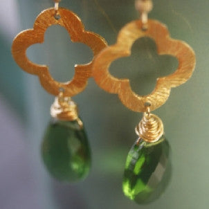 Clover and gemstone Earrings