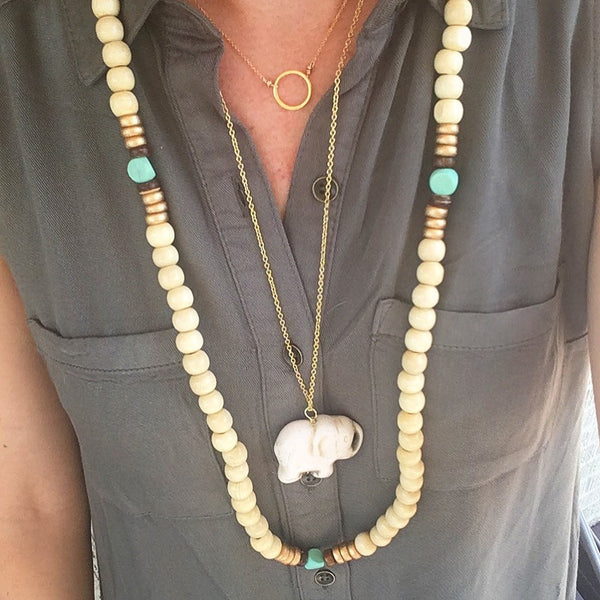 Lakehouse or Natural Horn Resin Necklaces