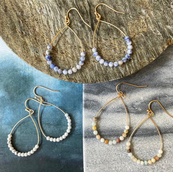 Georgie Beaded Teardrop Earrings