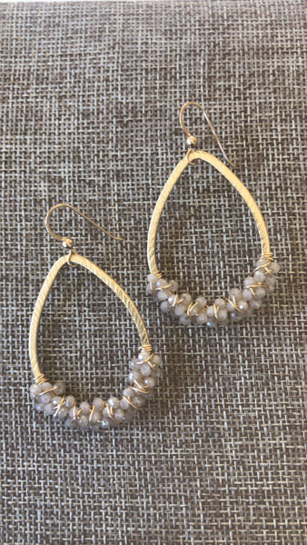 Creamy Quartz Earrings