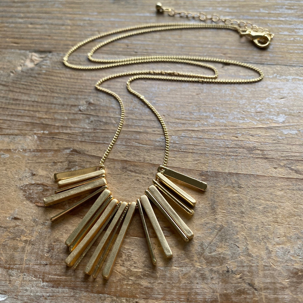 Multi-Bar Long Necklace