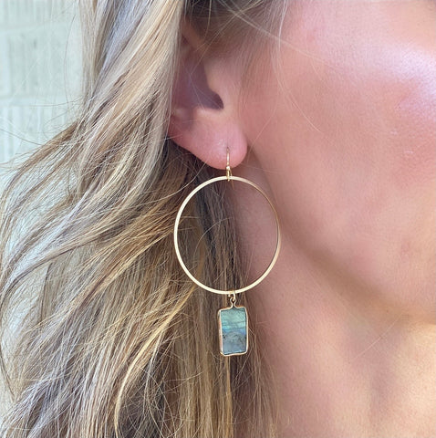 Mountain Fog Hoop Earrings
