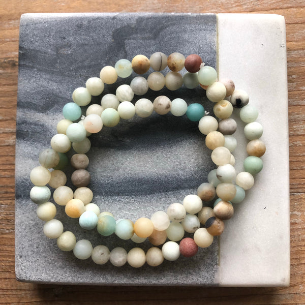 Triple Layer Amazonite Beaded Bracelets