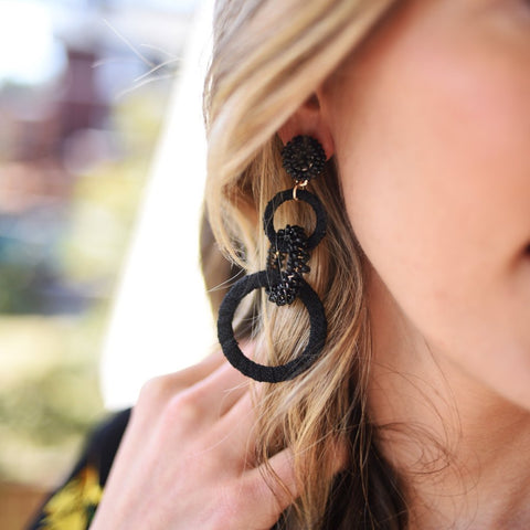 Black Horizon Earrings