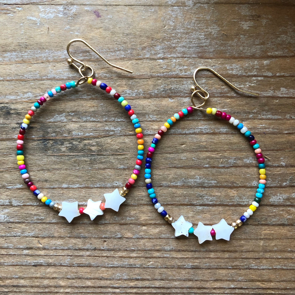 Star and Bead Hoops