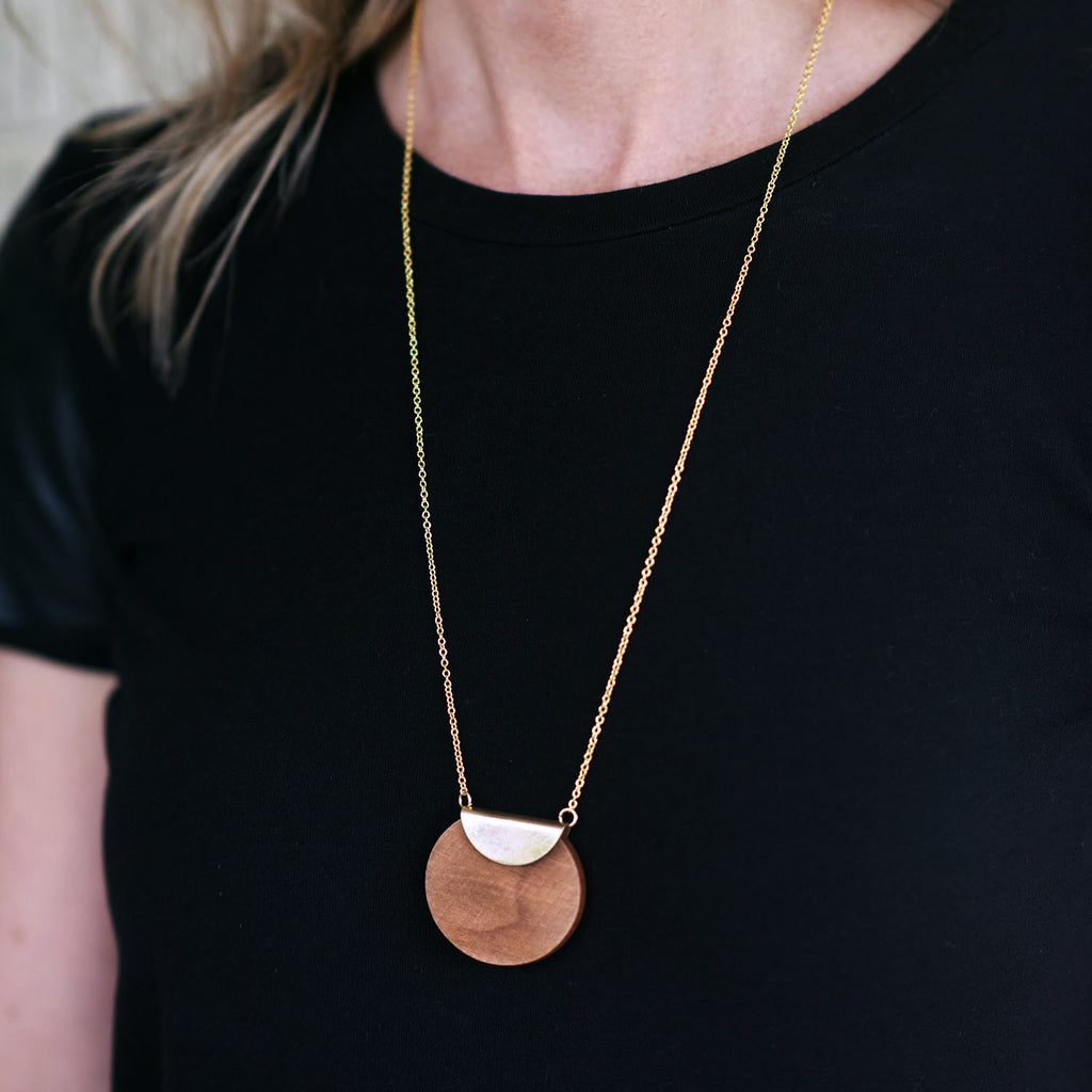 San Francisco Wood Necklace
