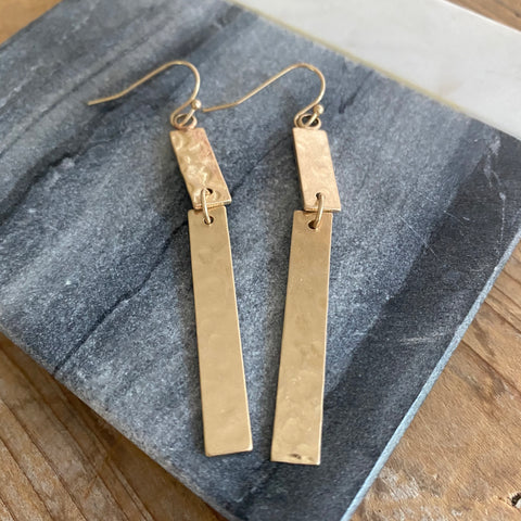 Layla Rectangle Drop Earrings