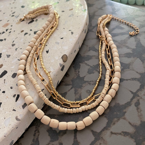 Cream Lounging Necklace