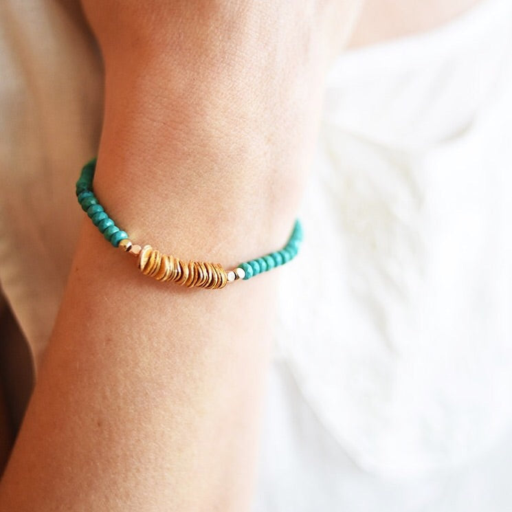 Tuscan Turquoise and Gold Bracelet