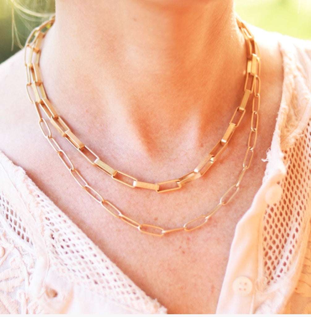 Liza Link Gold Necklace