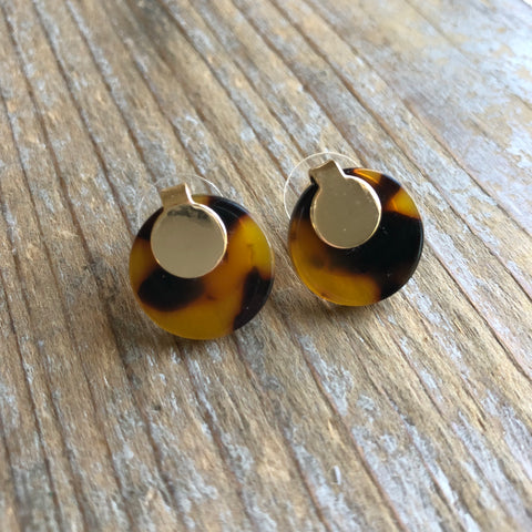 Tortoise and Gold Studs