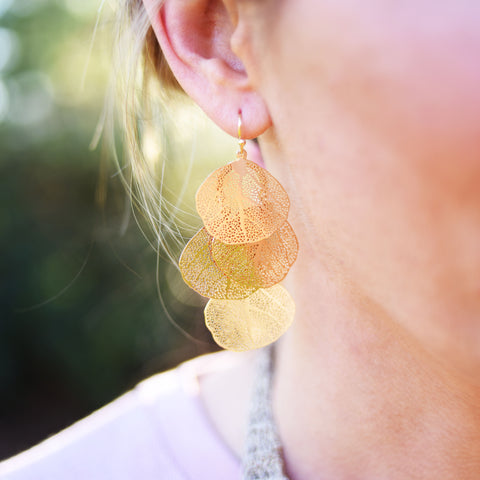Four Leaf Earrings
