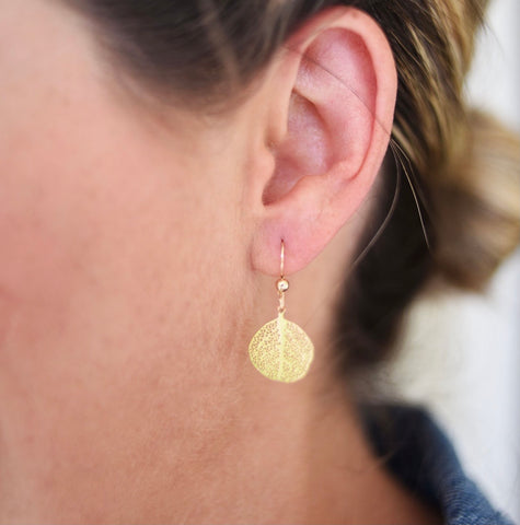 Tiny Leaf Earrings