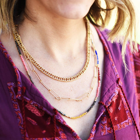 Elle Triple Strand Necklace