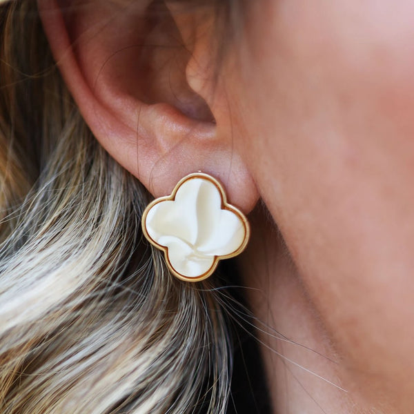 Clover Studs (four colors available)