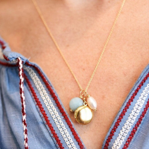 Tiny Locket Necklace