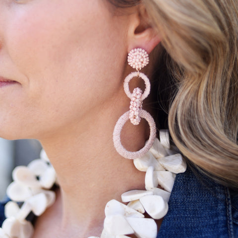 Blush Blossom Earrings