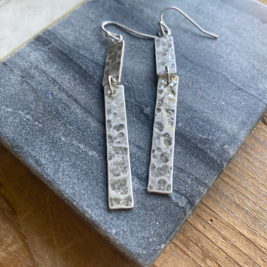 Silver Hammered Drops