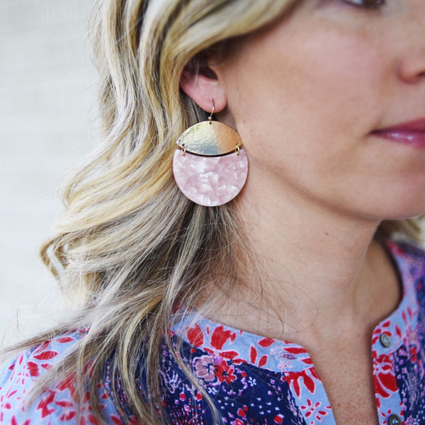 Pink October Earrings