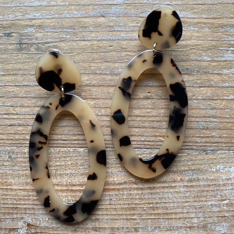 Averie Blonde Tortoiseshell Earrings