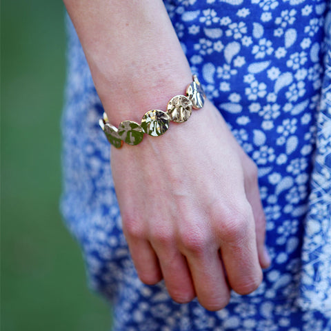 Paisley Gold Scalloped Cuff