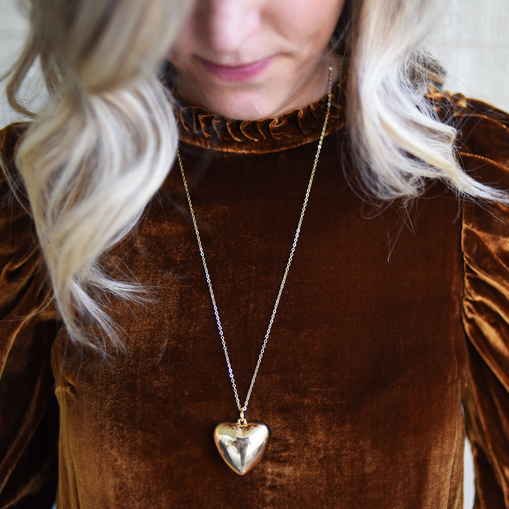 Puffed Heart Necklace