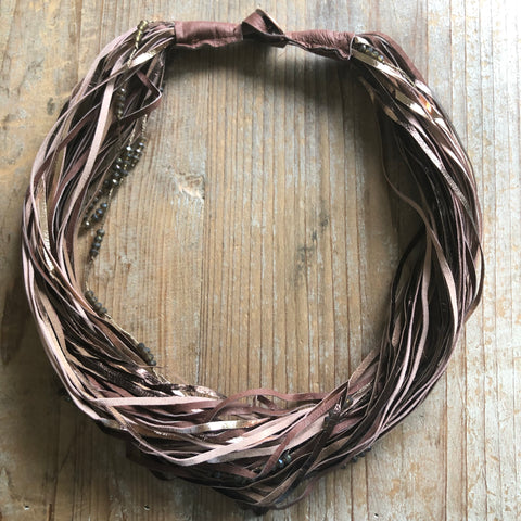 Mocha Leather Necklace