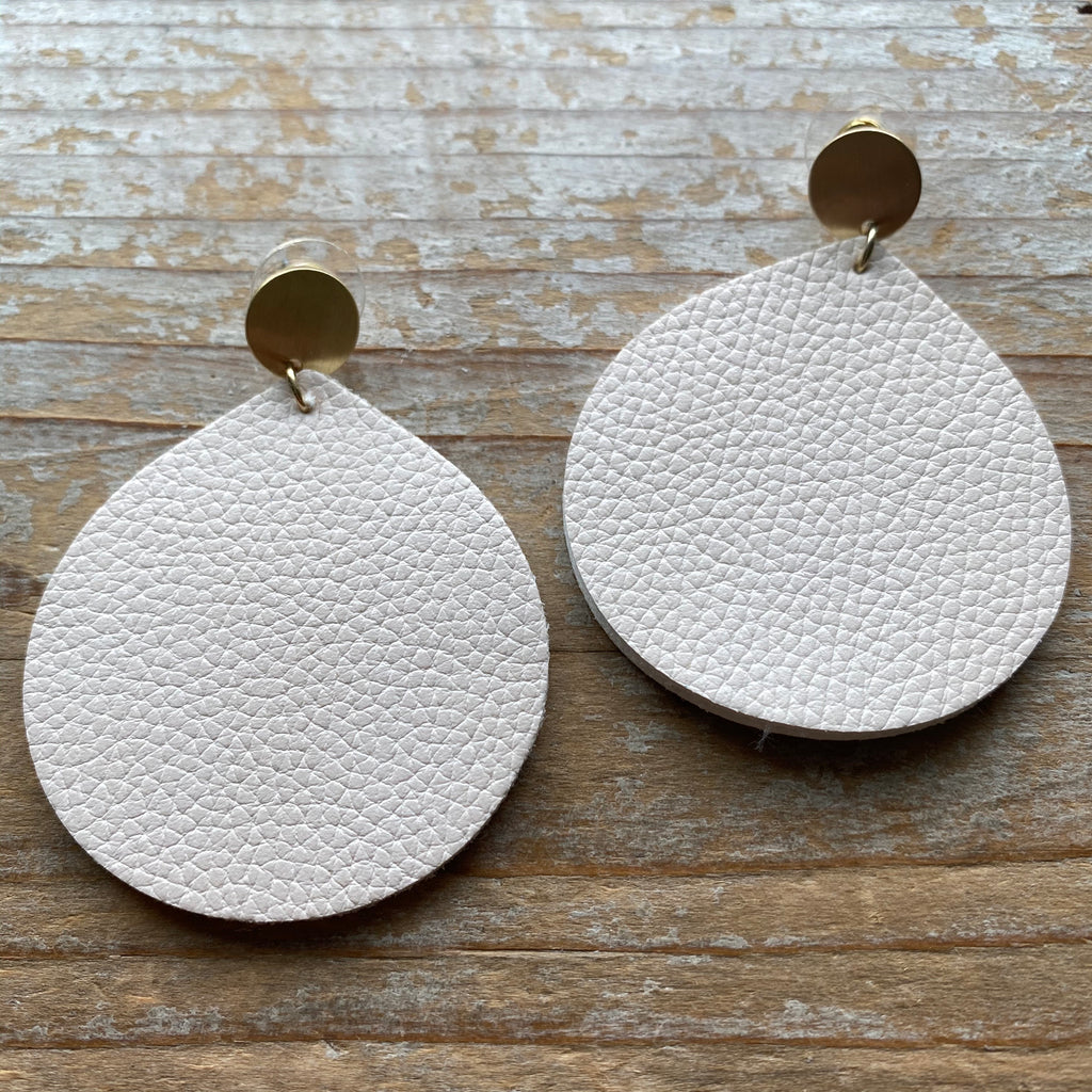 Ava-James Leather Earrings