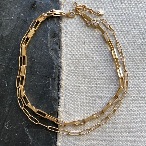 (Ships 6/1) Liza Link Gold Necklace
