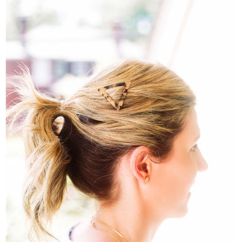 Triangle Blonde Barrette