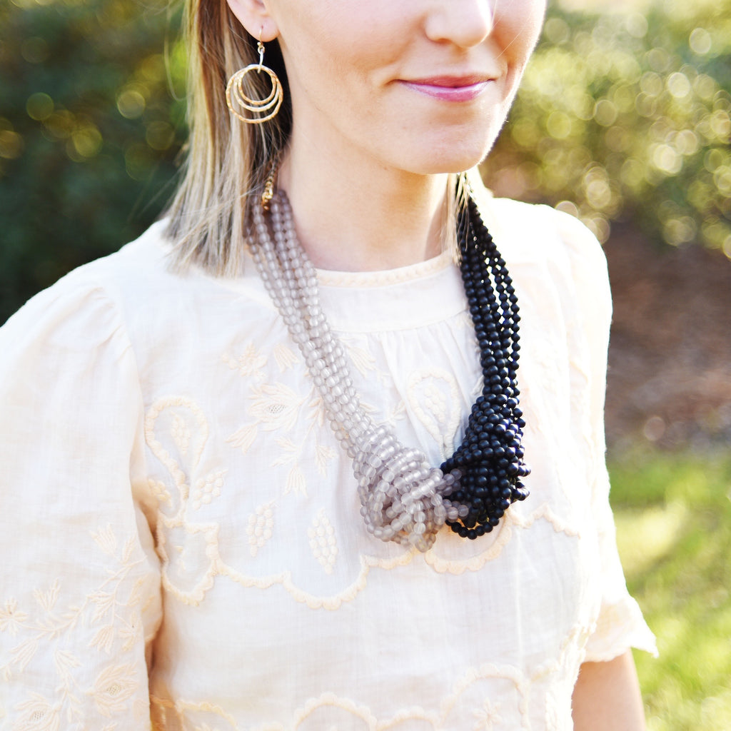 Neutral Knot Necklace