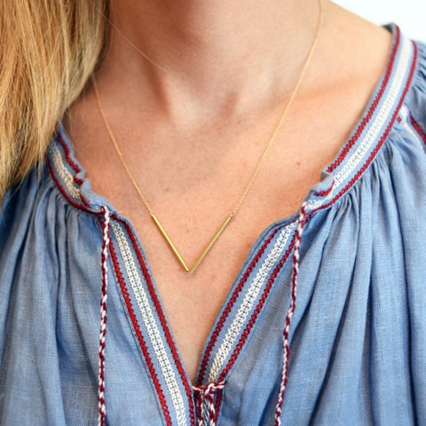 Mini Chevron Necklace