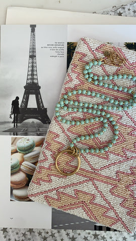 (Shipping 6/6) Macarons under the Eiffel Tower Necklace