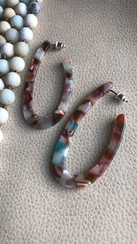 Desert Sky Resin Hoops