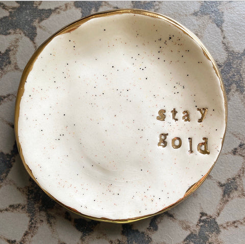 Stay Gold Jewelry Dish (and free bracelet)
