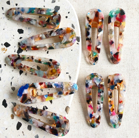 Multi-Color Curved Hair Clips