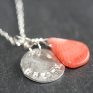 Coral Create Disc Necklace
