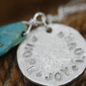 Hope, Joy, & Love Disc Necklace