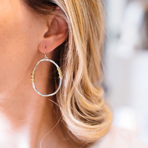 Moonlit Hoop Earrings