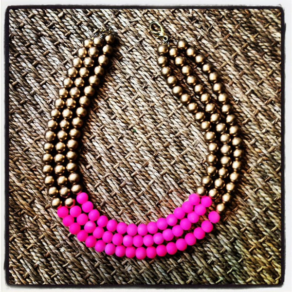 Neon and Gold necklace