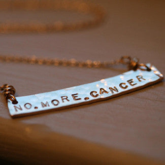 No. More. Cancer. Necklace