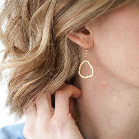 Organic Gold or Silver Earrings