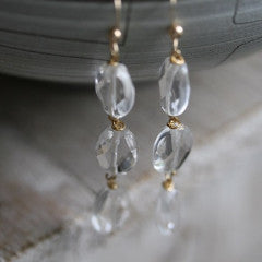 Disappearing Ice Quartz Earrings