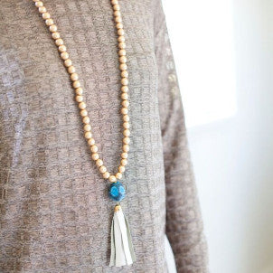 Snakeskin Agate Tassel Necklaces