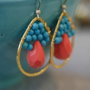 Surfing in Sunrise Earrings