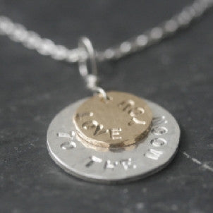 """Love you to the Moon"" Necklace"