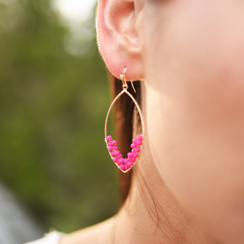 Hot Pink Montego Bay Earrings