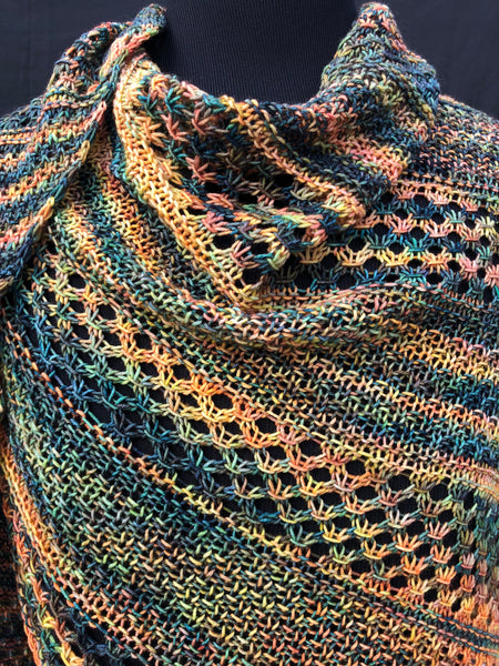 Kit - Morpho Shawl - Large - Ocean Line