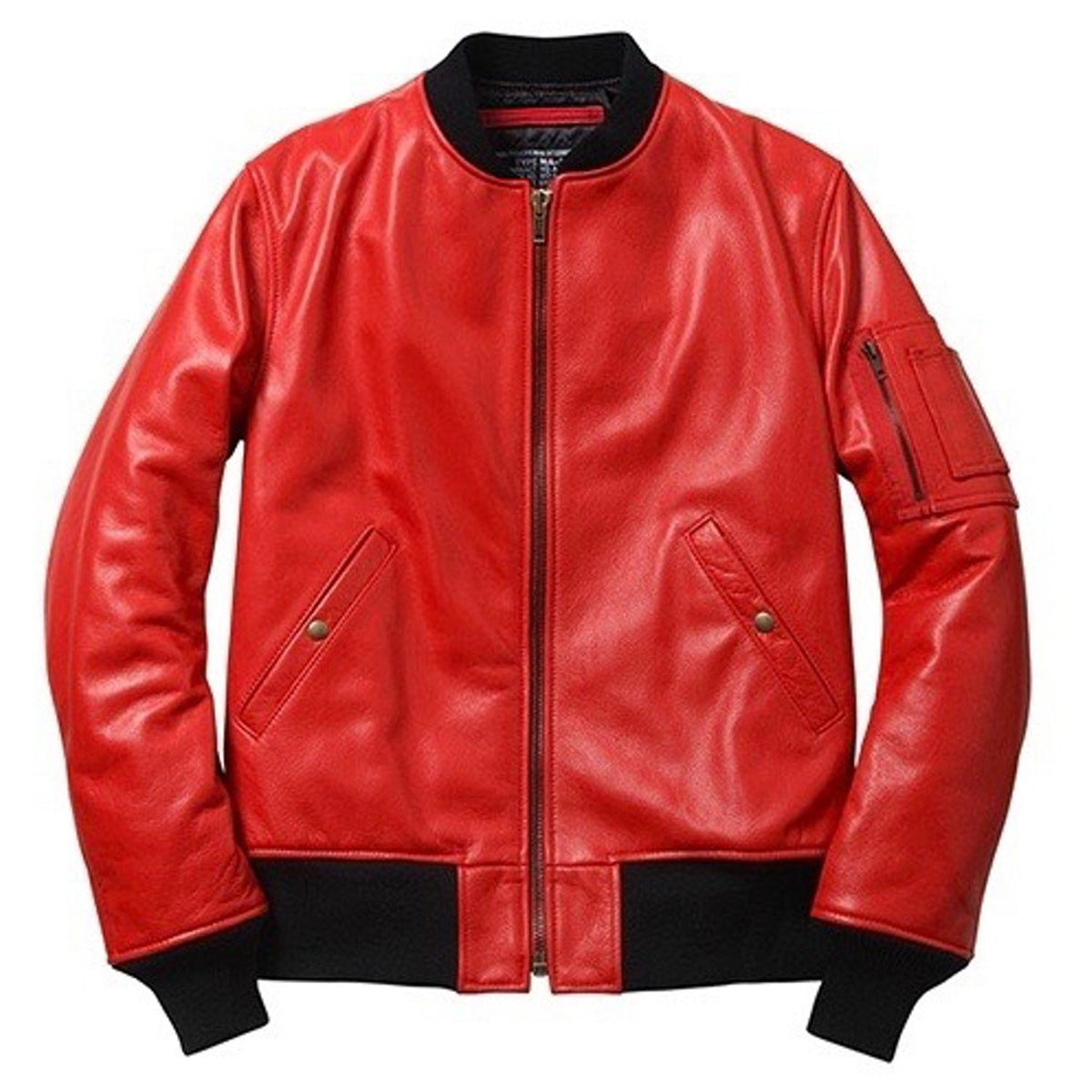 Supreme Schott NYC Leather MA 1 Jacket Red