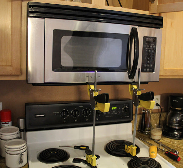 How To Install An Over The Range Microwave Jackclamp